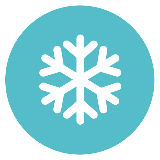 Snow Flake Icon Flat Christmas Circle Iconset Fps