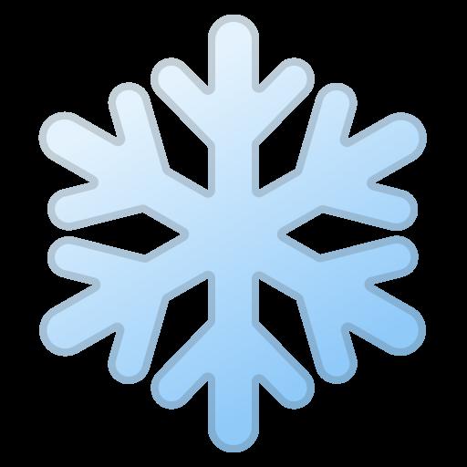 Snowflake Icon Noto Emoji Travel Places Iconset Google