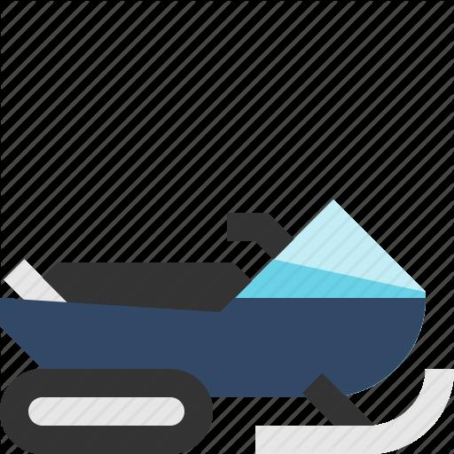 Snowmachine, Snowmobile, Transport, Winter Icon