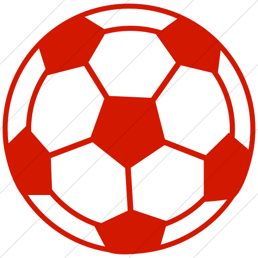 Simple Red Classica Soccer Ball Icon