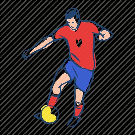 Athlete, Ball, Football, Player, Serbia, Soccer, Sport Icon