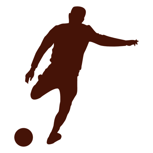 Football Player Kicking The Ball Silhouette