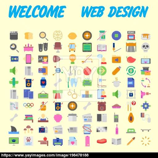 Trendy Flat Line Icon Pack For Designers And Developers Icons