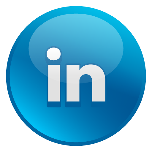Linkedn Glossy Social Iconset Social Media Icons