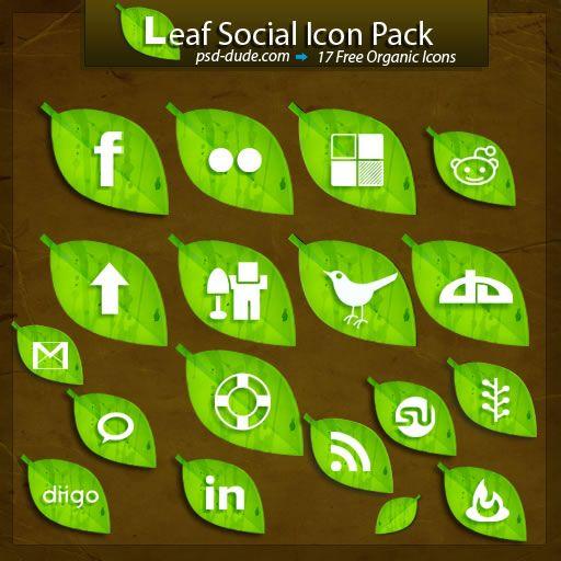 Leaf Icons, Leaf, Leaves, Earthy, Eco, Social Icons, Social Icon