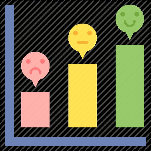 Bar Chart, Bar Graph, Customer Satisfaction, Vertical Icon