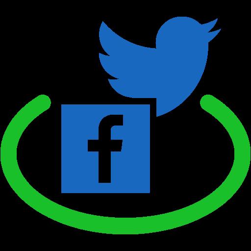 Social Media Facebook Glyph Black Icon