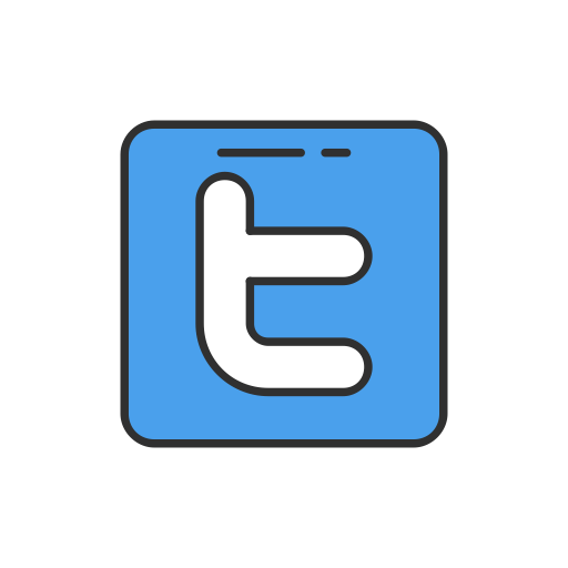 Twitter Button, Twitter Logo, Twitter, Social Media Icon