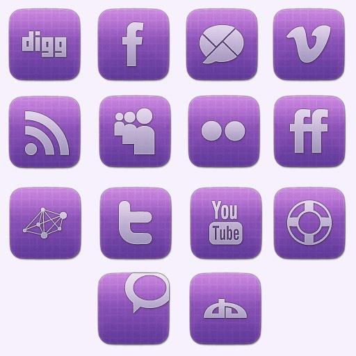 Vibrant Sophisticated Social Media Icon Set Creative Nerds
