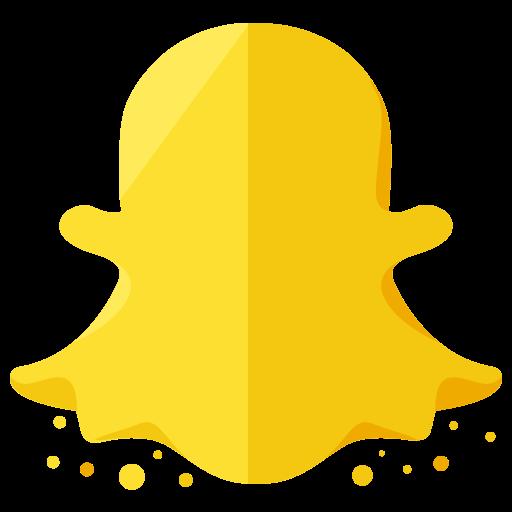 Social Media Snapchat Gold Icon