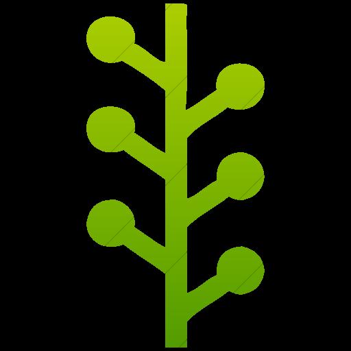 Simple Green Gradient Social Media Newsvine Logo Icon