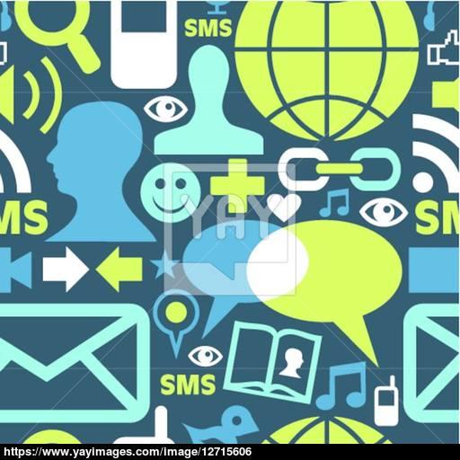 Social Media Network Icons Pattern Vector