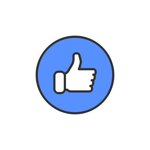Social Media Icons Facebook Like And Love Buttons Transparent