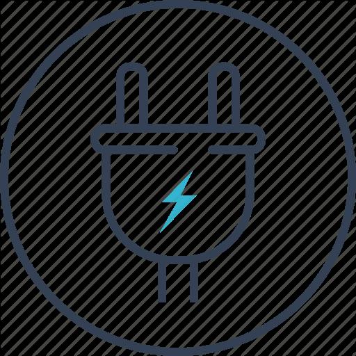 Action, Camera, Energy, Socket Icon