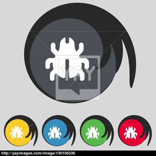 Software Bug, Virus, Disinfection, Beetle Icon Sign Symbol