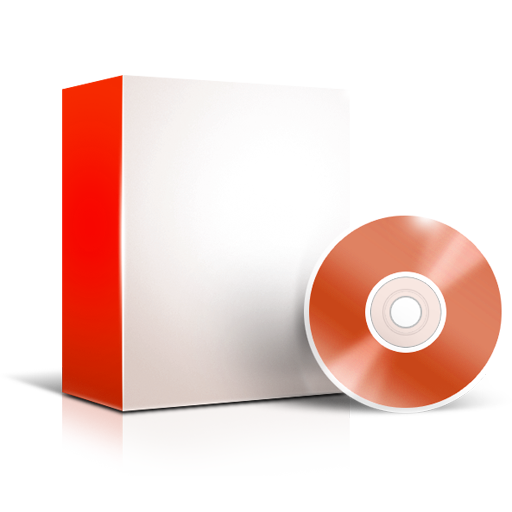 Red Software Box Icon