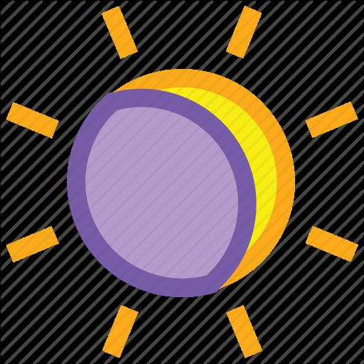 Eclipse, Forecast, Moon, Solar, Sun, Weather Icon