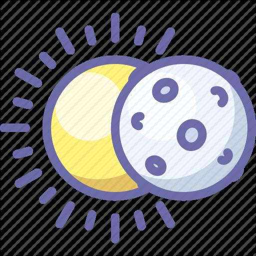 Eclipse, Moon, Sun Icon