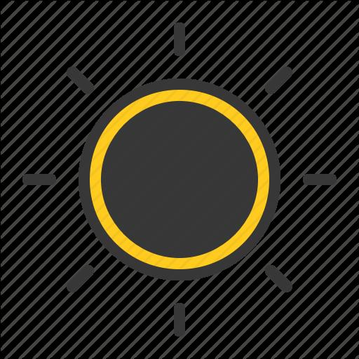 Solar Eclipse, Sun, Weather Icon