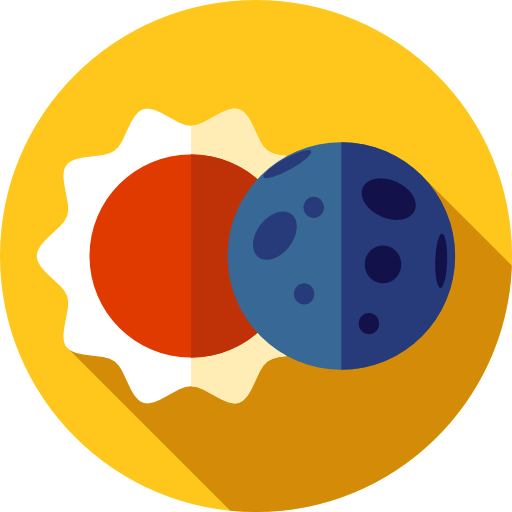 Sun, Space, Weather, Astral, Eclipse, Education, Moon Icon