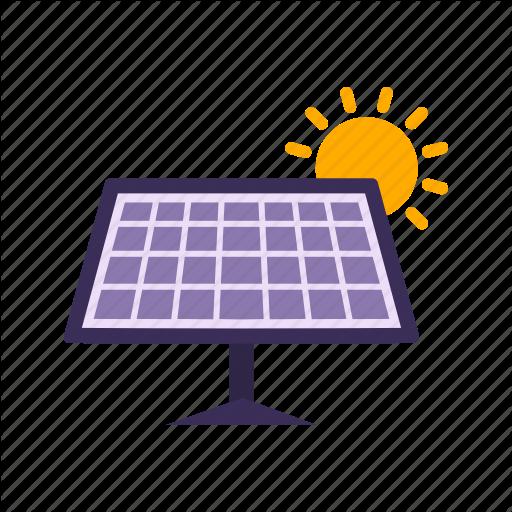 Electricity, Energy, Solar Energy, Solar Panel Icon