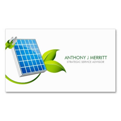 Solar Panel Icon Business Card Business Cards