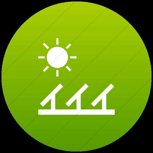 Flat Circle White On Green Gradient Iconathon Solar