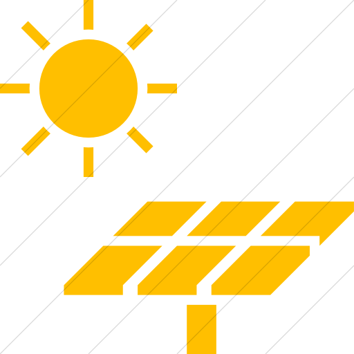 Simple Yellow Iconathon Solar Panel Icon