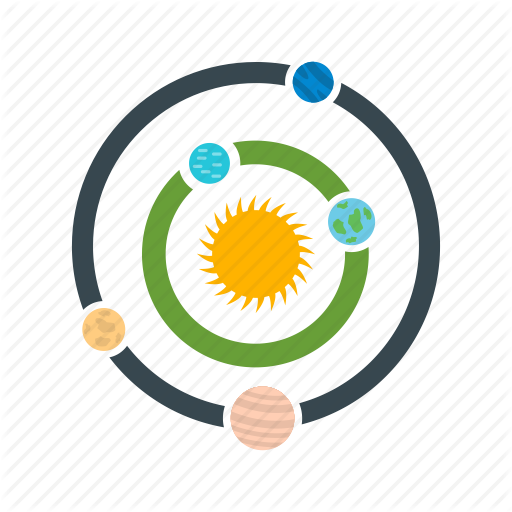 Astronomy, Galaxy, Planets, Solar, System Icon