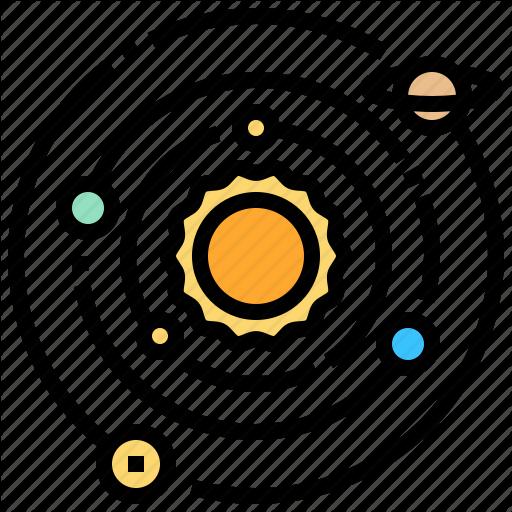 Galaxy, Solar, Space, Star, System Icon