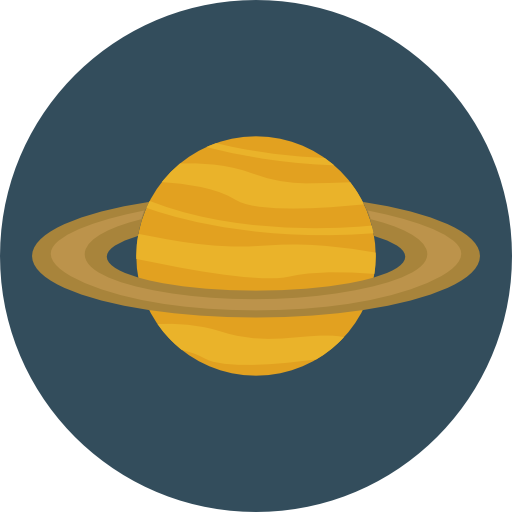 Planet, Science, Education, Saturn, Astronomy, Solar System Icon