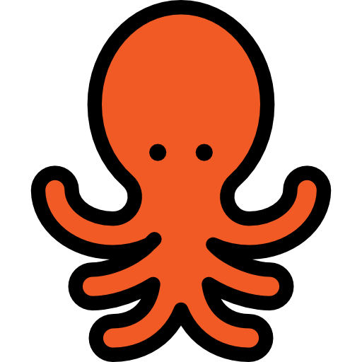 Octopus, Laughing Icon