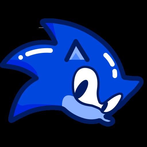 Blue, Character, Inkcontober, Run, Sonic Icon