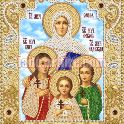 Faith, Hope, Love And Their Mother Sophia Icon Diy Bead Embroidery