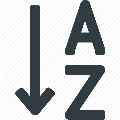 Alphabet, Alphabetical, Order, Sort Icon