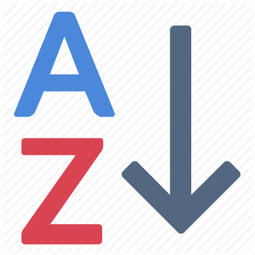 Alphabet, Arrow, Documents, Down, Files, Sort Icon