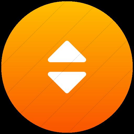 Flat Circle White On Orange Gradient Bootstrap Font