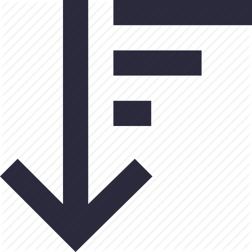Alignment, Arrow, Sort Descending, Sort Down, Sorting Icon