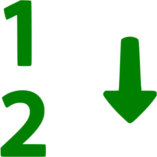 Green Numerical Sorting Icon