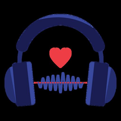 Heart Sound Wave Headphones Icon