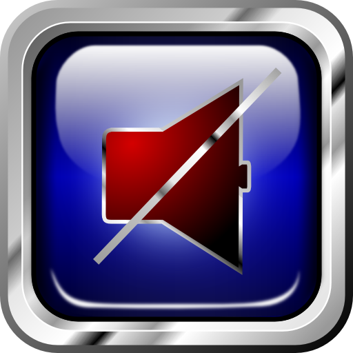 Icon Blue Multimedia Sound Off Clipart