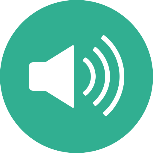 Music, Sound, Speaker, Volume, Audio, Circle Icon