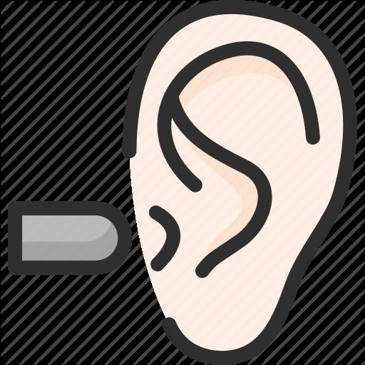Ear, Loud, Noise, Plug, Sound, Wave Icon