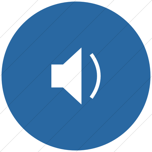 Flat Circle White On Blue Classica Speaker With One