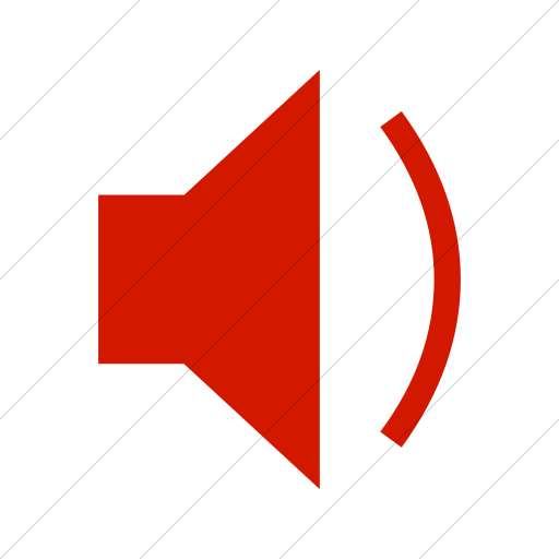Simple Red Classica Speaker With One Sound Wave Icon