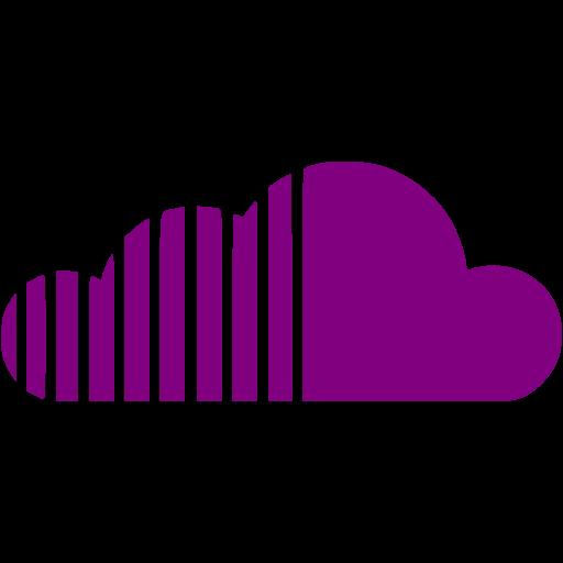 Purple Soundcloud Icon