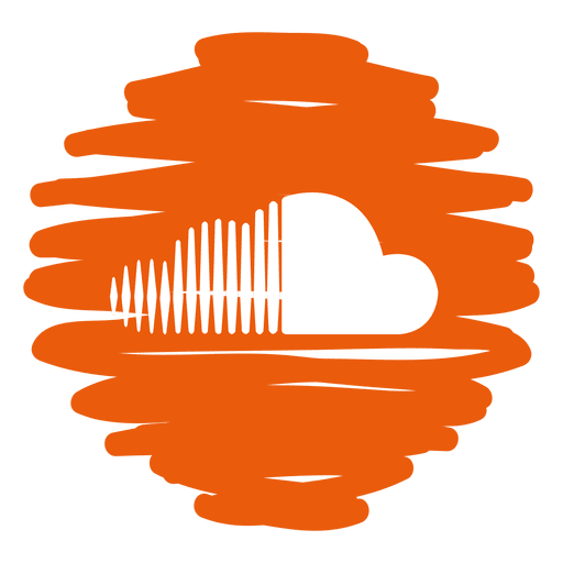 Soundcloud Distorted Round Icon
