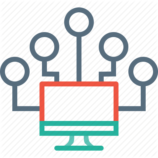 Computer, Connection, Master, Network, Node, Slave, Source Icon