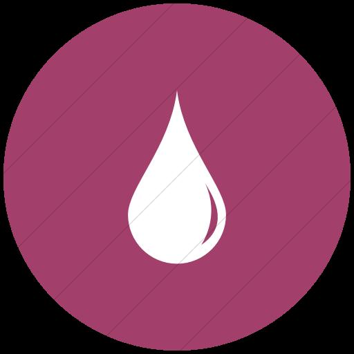 Flat Circle White On Pink Ocha Humanitarians Wash Water
