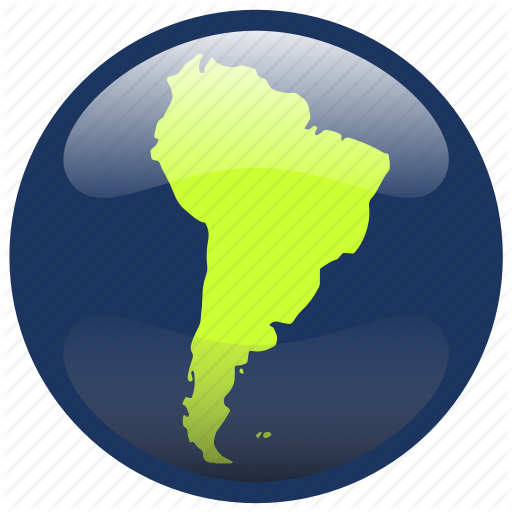 Continent, Map, South America, Southamerica Icon